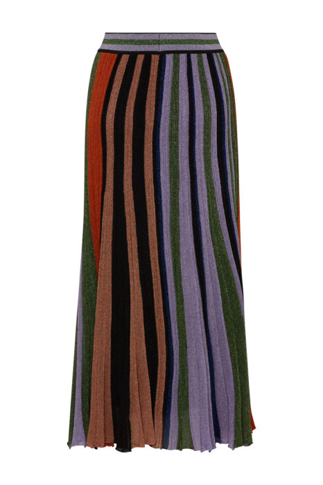 Missoni Women's Pleated Metallic Maxi Skirt Multicoloured FRONT