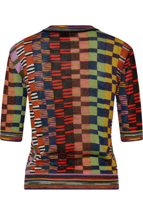 Missoni Women's Metallic Checked Top Multicoloured BACK