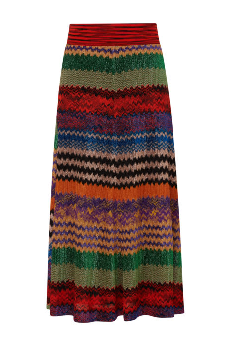 Missoni Women's Striped Metallic Maxi Skirt Multicoloured
