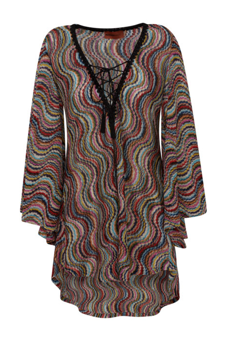 Missoni Women's Metallic Knit Beach Dress Multicoloured
