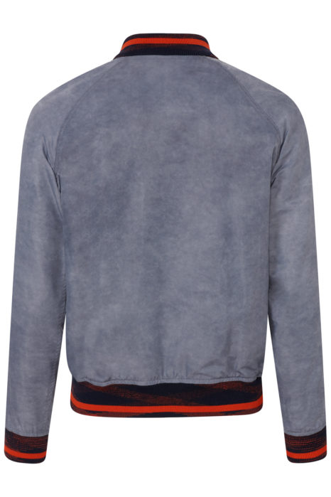 Missoni Men's Nylon Bomber Jacket Grey BACK