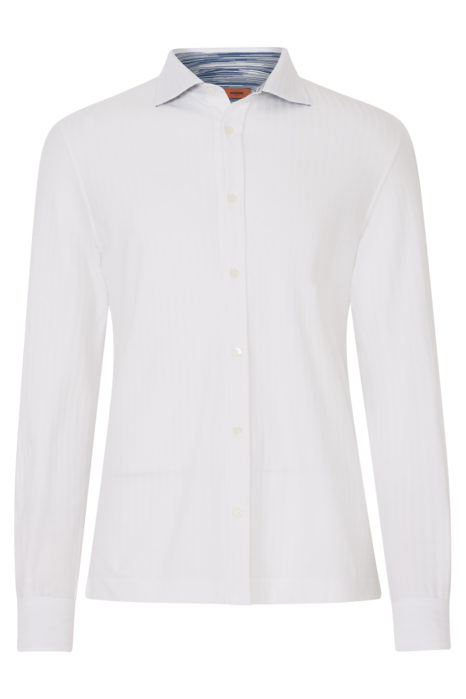 Missoni Men's Cotton Knitted Shirt White FRONT