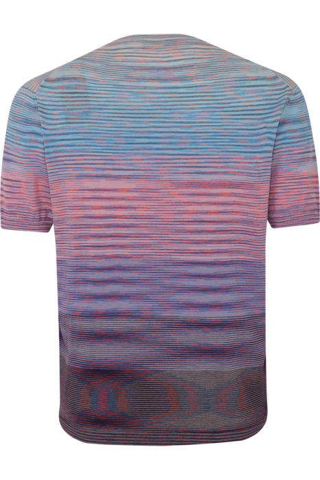 Missoni Men's Knitted Stripe T-Shirt Pink BACK