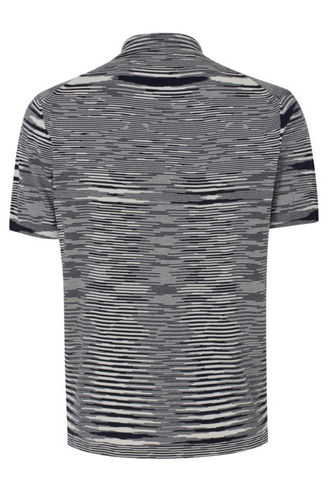 Missoni Men's Knitted Stripe Polo Shirt Black BACK