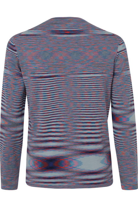 Missoni Men's Cotton Knitted Stripe Top Blue BACK