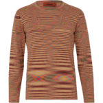 Missoni Men's Cotton Knitted Stripe Top Orange FRONT