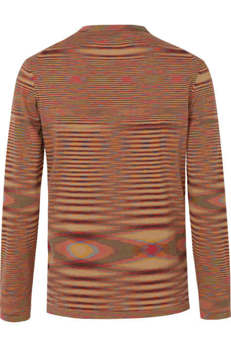 Missoni Men's Cotton Knitted Stripe Top Orange BACK