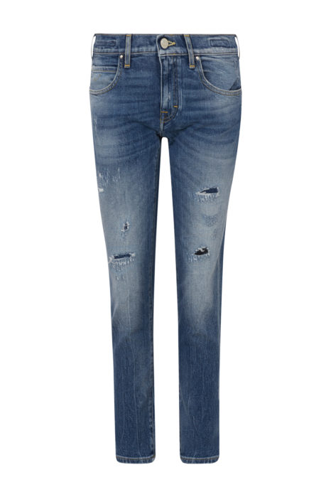 Jacob Cohën Women's Karen Distressed Jeans Blue FRONT