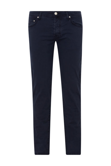 Jacob Cohën Men's Chino Trousers Navy FRONT