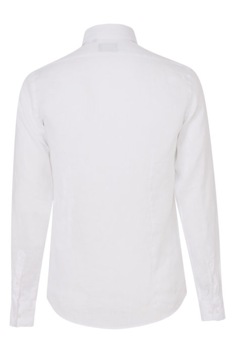 Sand Men's Classic Linen Shirt White BACK