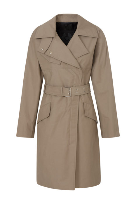 Belstaff Tailworth Women's Long Trench Coat Khaki FRONT
