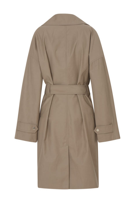 Belstaff Tailworth Women's Long Trench Coat Khaki BACK