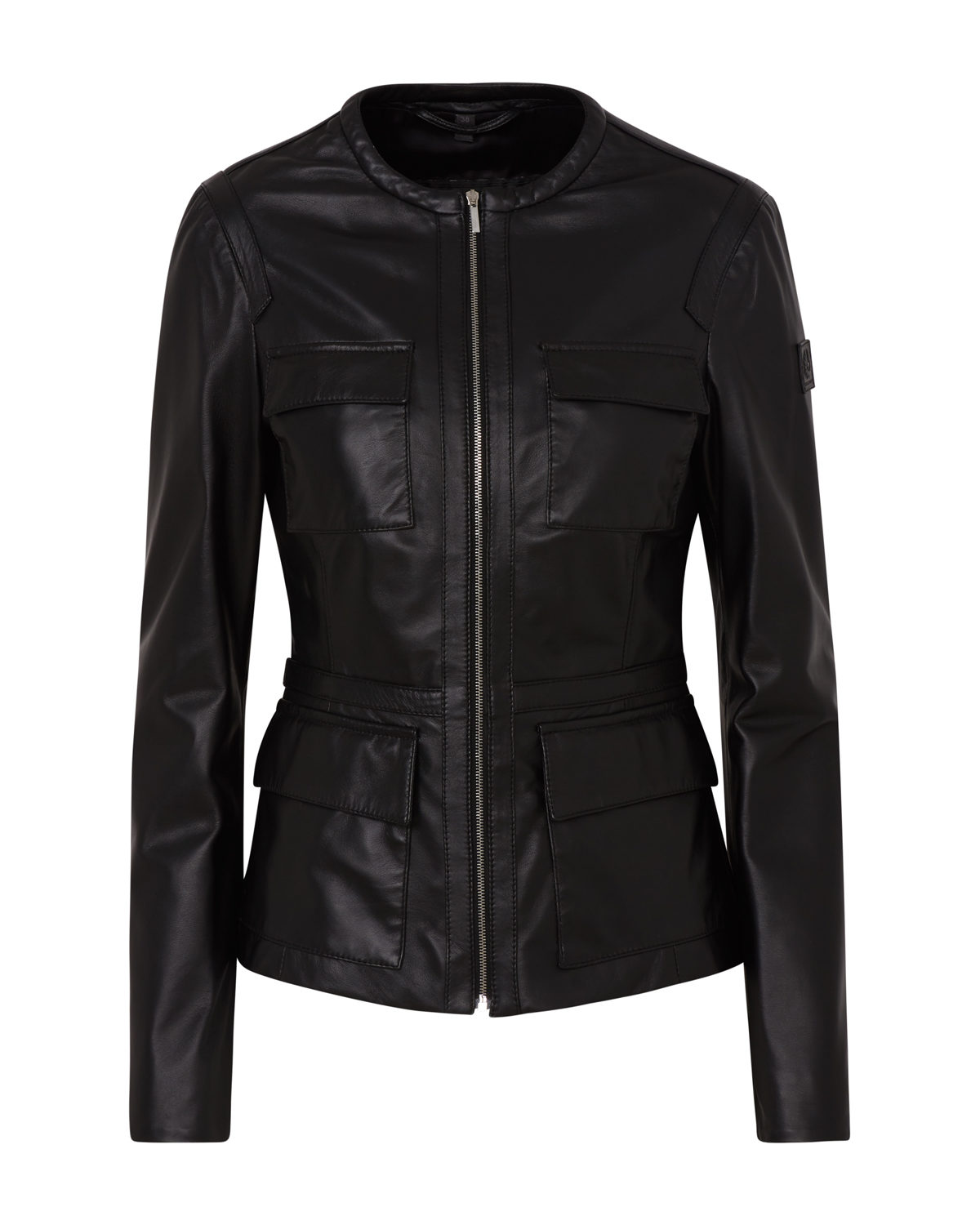 Belstaff Brimms Women S Nappa Leather Jacket Black Linea