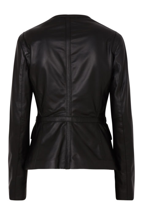 Belstaff Brimms Women's Nappa Leather Jacket Black BACK