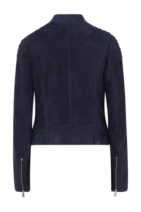 Belstaff Mollison Women's Suede Jacket Navy BACK