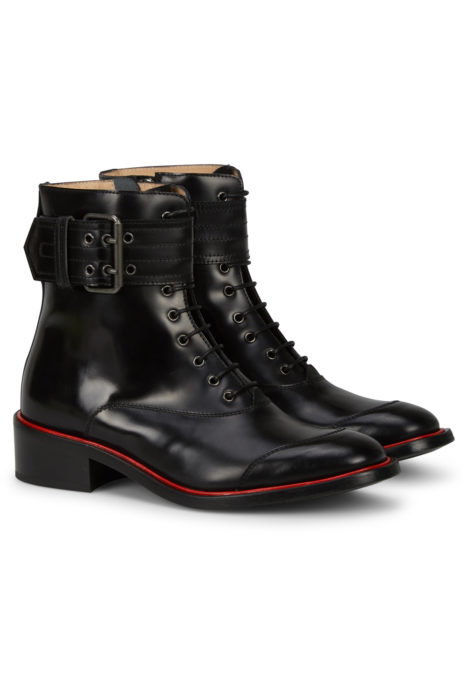 Belstaff Women's Acklington High Shine Boots Black FRONT