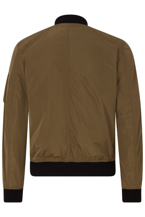 Belstaff Mallison Men's Micro Poly Bomber Jacket Green BACK