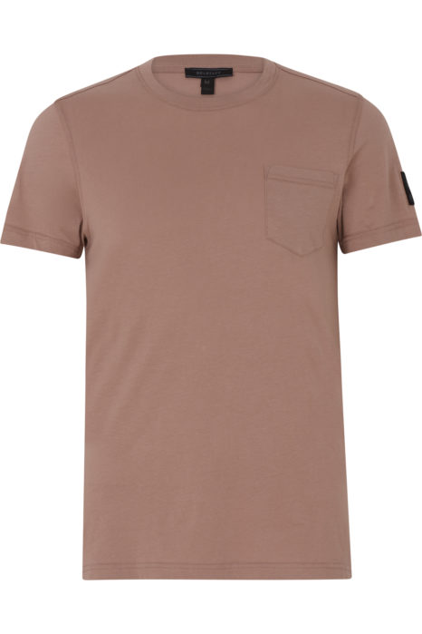 Belstaff New Thom Men's T-shirt Ash Rose Pink FRONT
