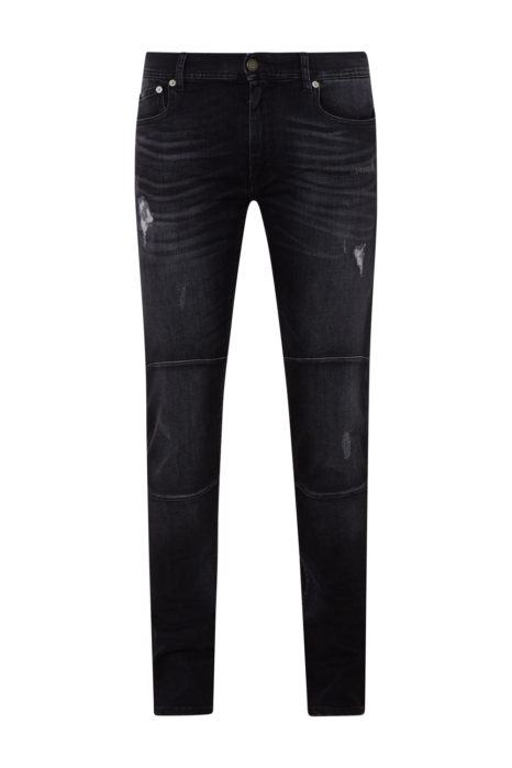Belstaff Men's Tattenhall Distressed Jeans Coal Black