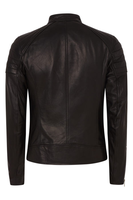 Belstaff Northcott Men's Tumbled Leather Jacket Black BACK