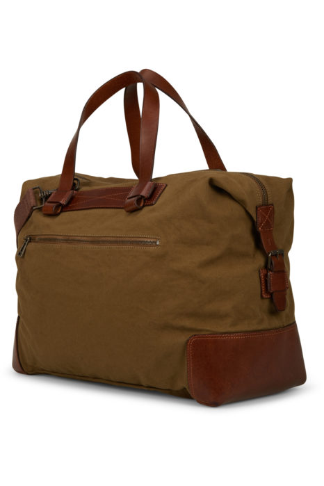 Belstaff Men's Colonial Cotton Canvas Shoulder Bag Brown BACK