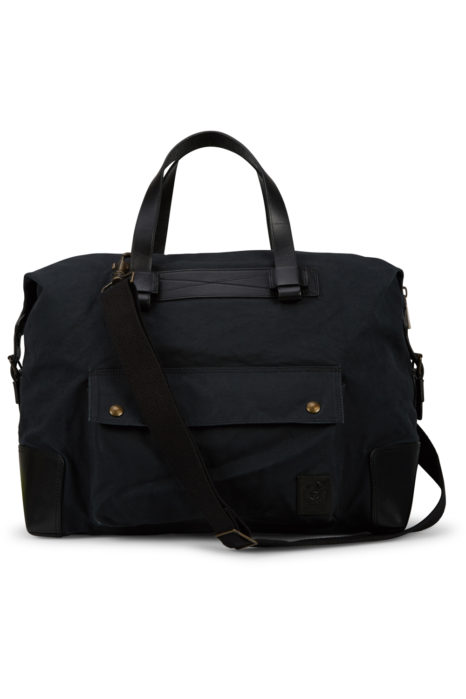 Belstaff Men's Colonial Cotton Canvas Shoulder Bag Black FRONT