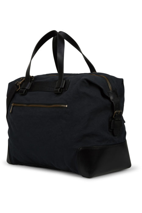 Belstaff Men's Colonial Cotton Canvas Shoulder Bag Black BACK