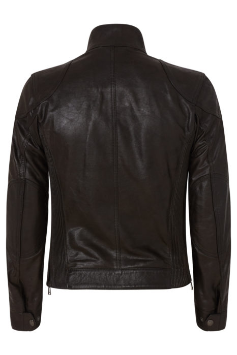Belstaff Gangster Men's Hand Waxed Leather Jacket Black BACK