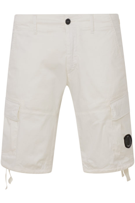 C.P. Company Men's Cargo Lens Shorts White FRONT