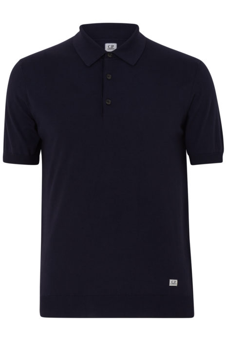 C.P. Company Cotton Polo-shirt Navy FRONT
