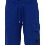 C.P. Company Men's Cotton Cargo Shorts Blue FRONT