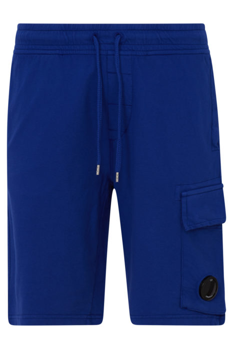 C.P. Company Men's Cotton Cargo Shorts Blue FRONT