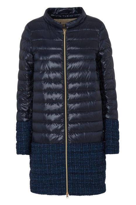 Herno Women's Quilted Coat Night Blue FRONT