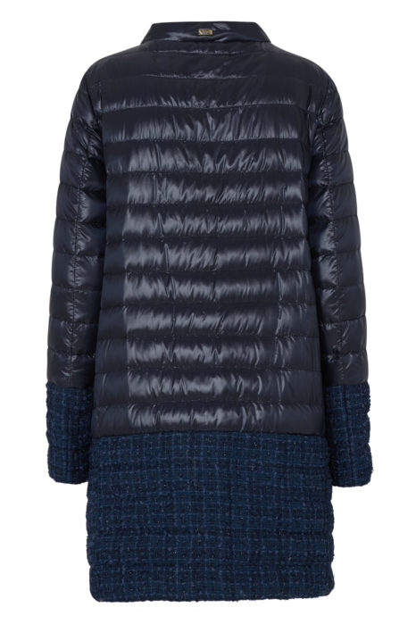 Herno Women's Quilted Coat Night Blue BACK