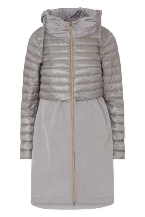 Women's Quilted Down Coat Grey FRONT