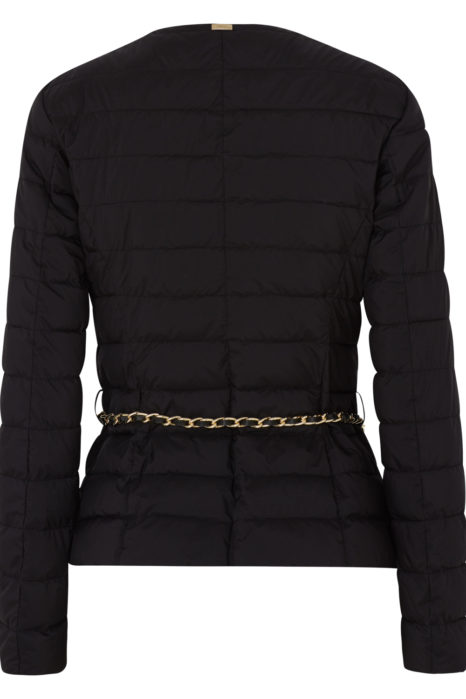 Herno Women's Quilted Down Chain Jacket Blue BACK