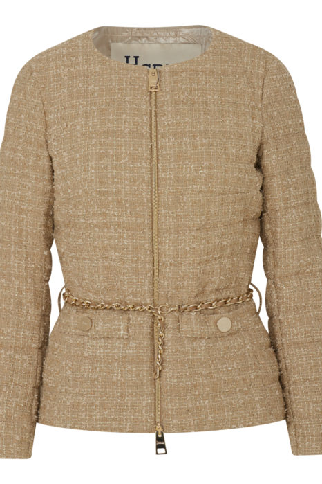Herno Women's Chanel Padded Chain Jacket Beige FRONT