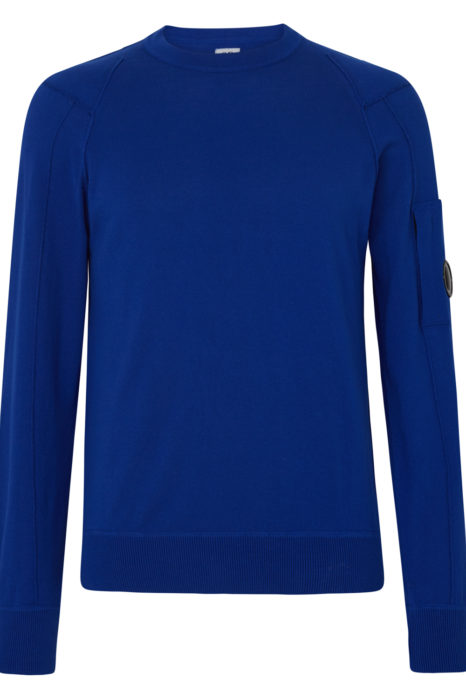 C.P. Company Men's Heavy Crew-neck Sweatshirt Dark Blue FRONT