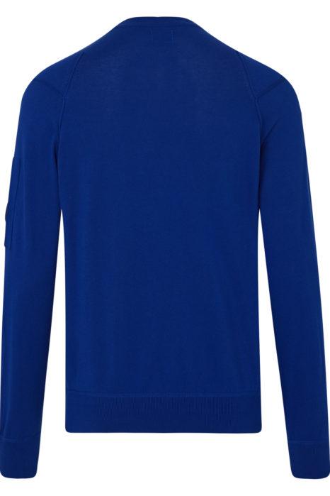 C.P. Company Men's Heavy Crew-neck Sweatshirt Dark Blue BACK