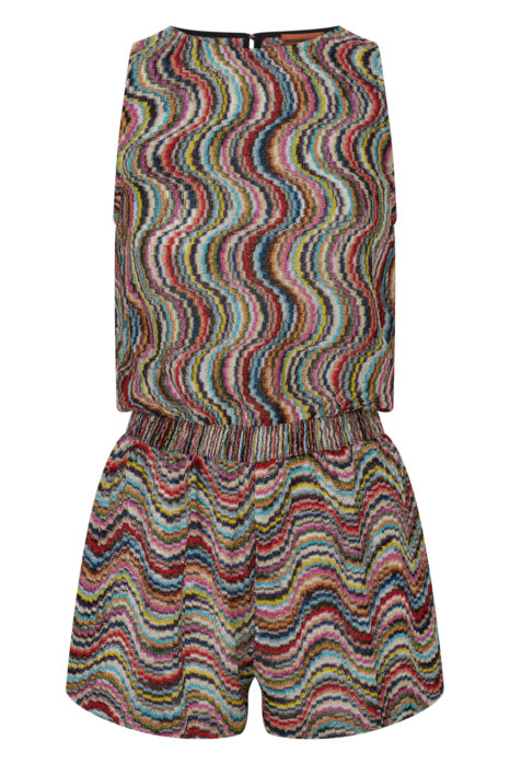 Missoni Women's Metallic Crotchet-Knit Beach Jumpsuit Multicoloured FRONT