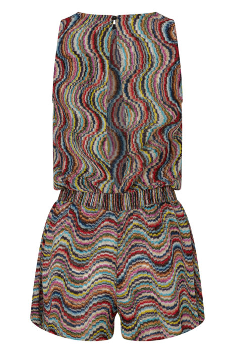 Missoni Women's Metallic Crotchet-Knit Beach Jumpsuit Multicoloured BACK