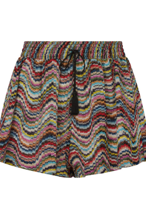 Missoni Women's Metallic Crotchet-Knit Beach Shorts Multicoloured FRONT