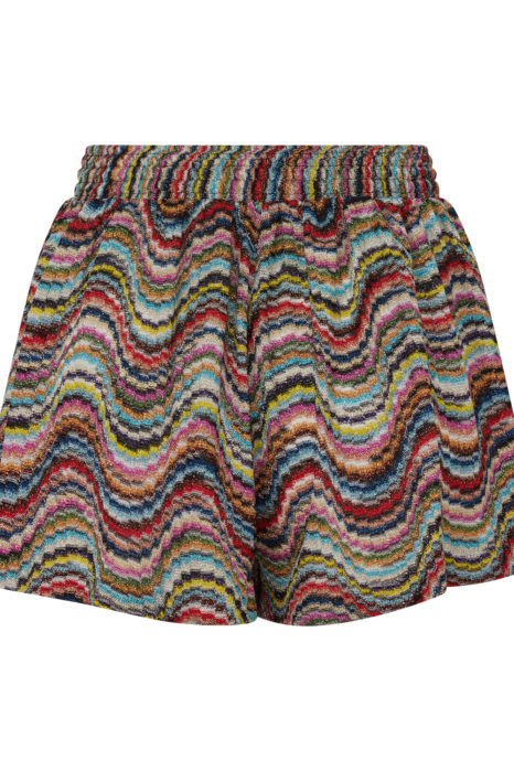 Missoni Women's Metallic Crotchet-Knit Beach Shorts Multicoloured BACK