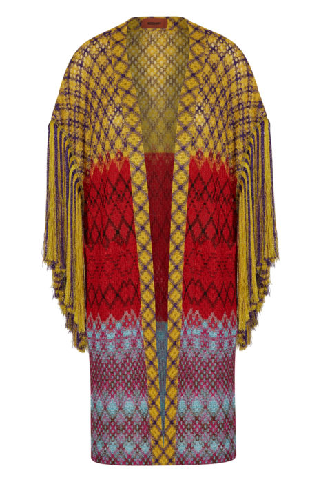 Missoni Women's Metallic Crotchet-knit Cardigan Multicoloured FRONT