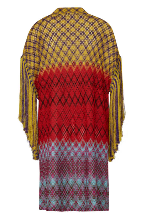 Missoni Women's Metallic Crotchet-knit Cardigan Multicoloured BACK
