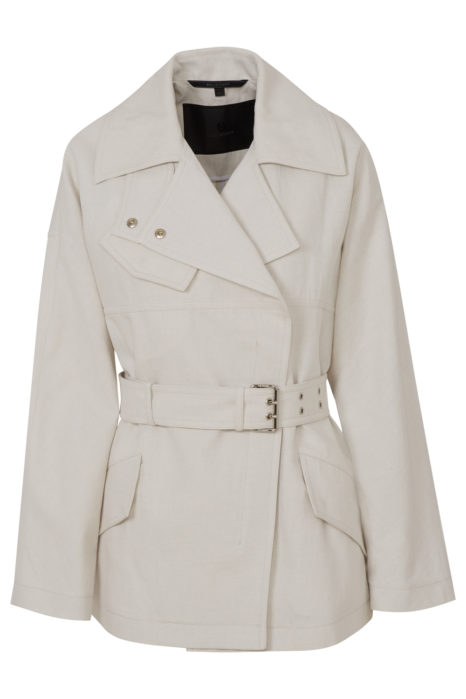 Belstaff Clonmore Women's Light Canvas Coat Beige FRONT