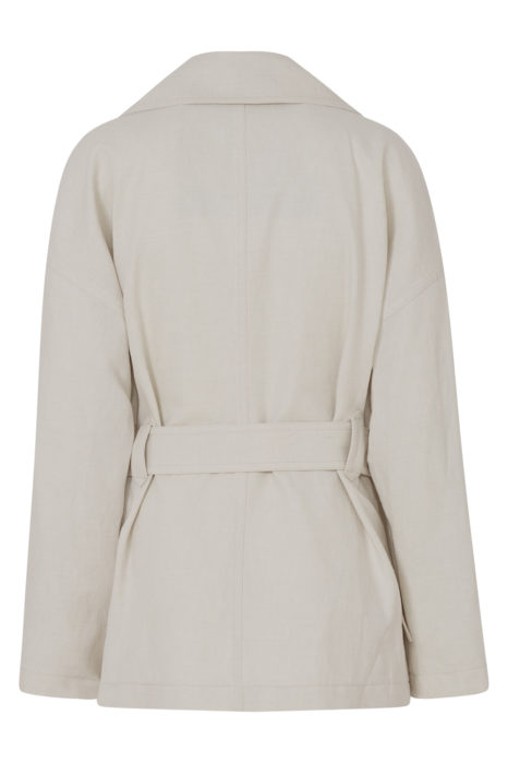 Belstaff Clonmore Women's Light Canvas Coat Beige BACK