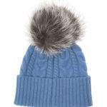 Moncler Women's Cable-Knit Beanie Hat Blue