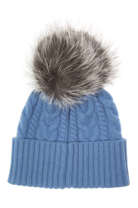 Moncler Women's Cable-Knit Beanie Hat Blue
