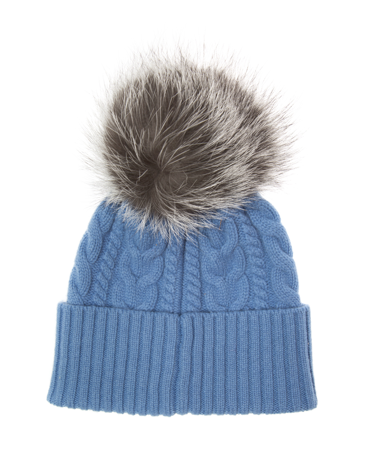 Moncler Women s Cable-Knit Beanie Hat Blue 85889 2 - Linea Fashion fa467277f3